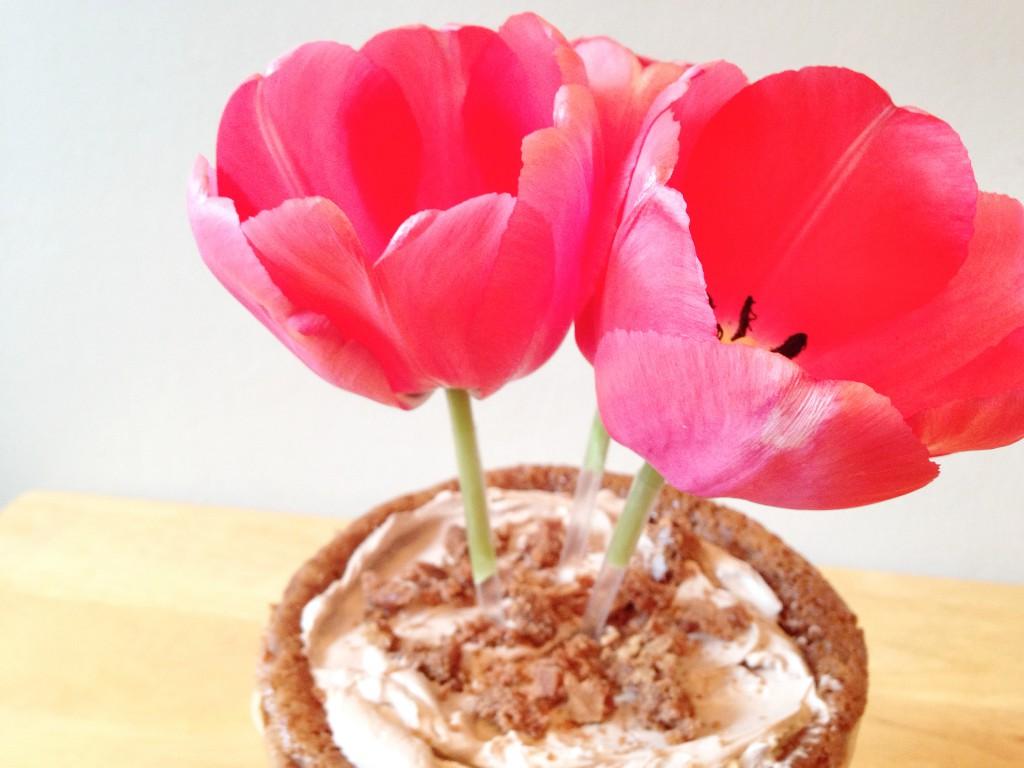 Blumentopf-Kuchen Cupcake