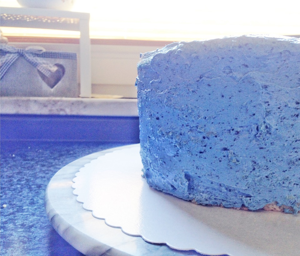 Blaue Torte Fondant