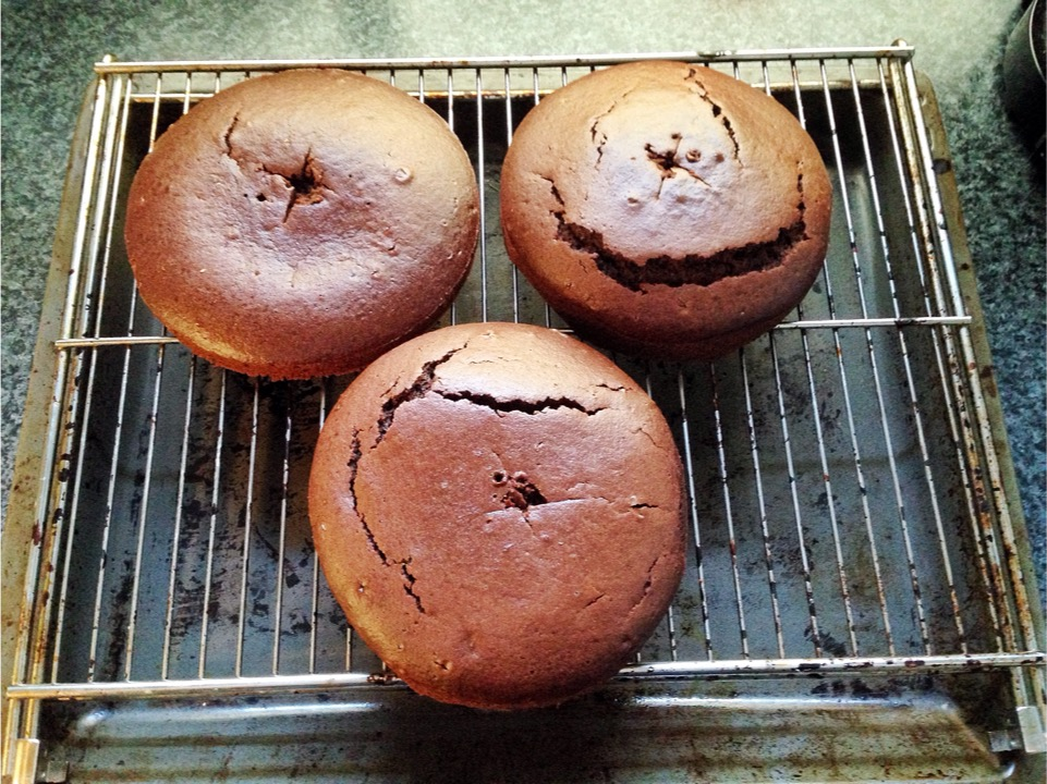 Ombre Kuchen Schoko