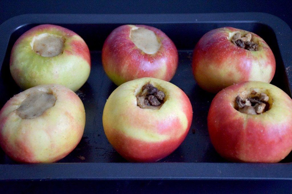 Bratapfeltorte Äpfel füllen