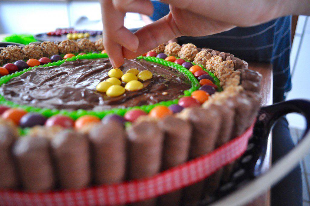 Süßigkeiten-Torte Deko