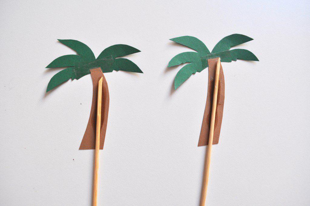 Strand-Torte mit Palmen