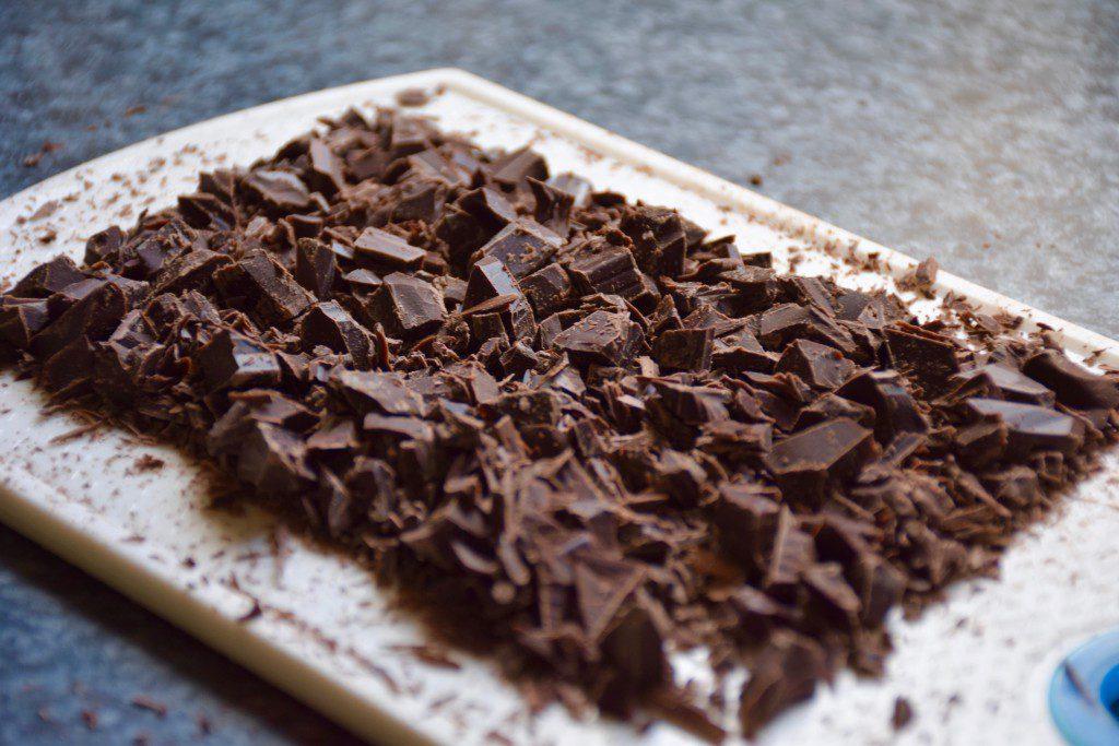 Vanillekuchen mit Schokolade