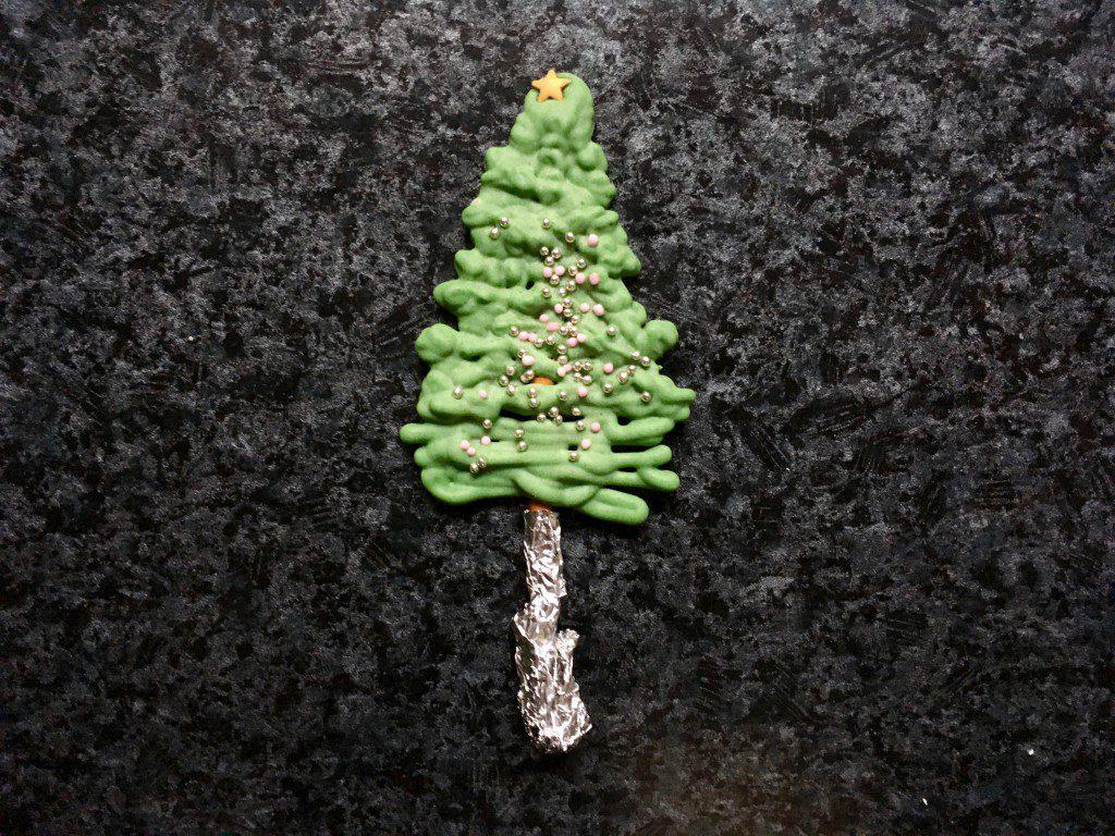 Weihnachtsmuffins Baumstamm
