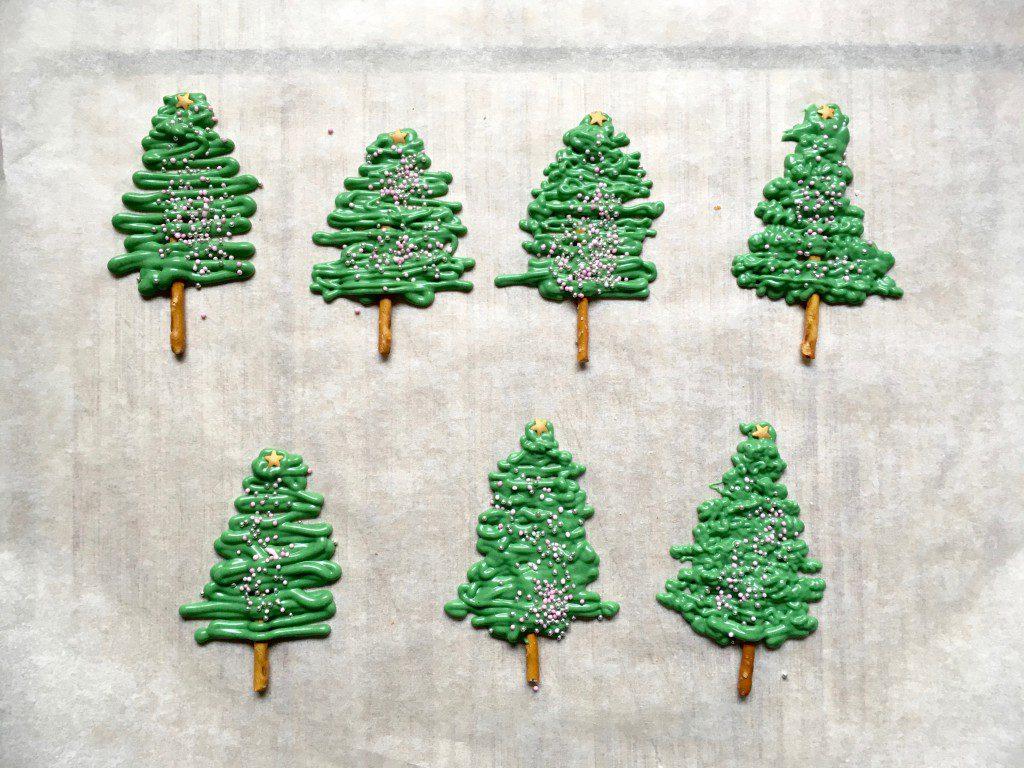 Weihnachtsmuffins Schokotannen